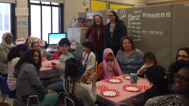 Valentine's Day Party at P7 Girls' Club