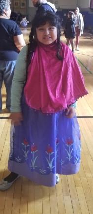 Little girl dressed as princess