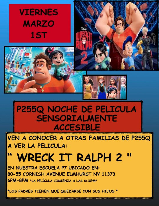 WRECK IT RALPH MOVIE NIGHT POSTER-SPANISH