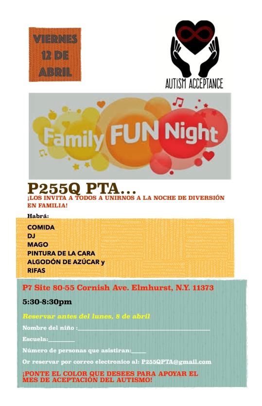 ¡Acompañenos a Family Fun Night (una noche divertida en Familia!!