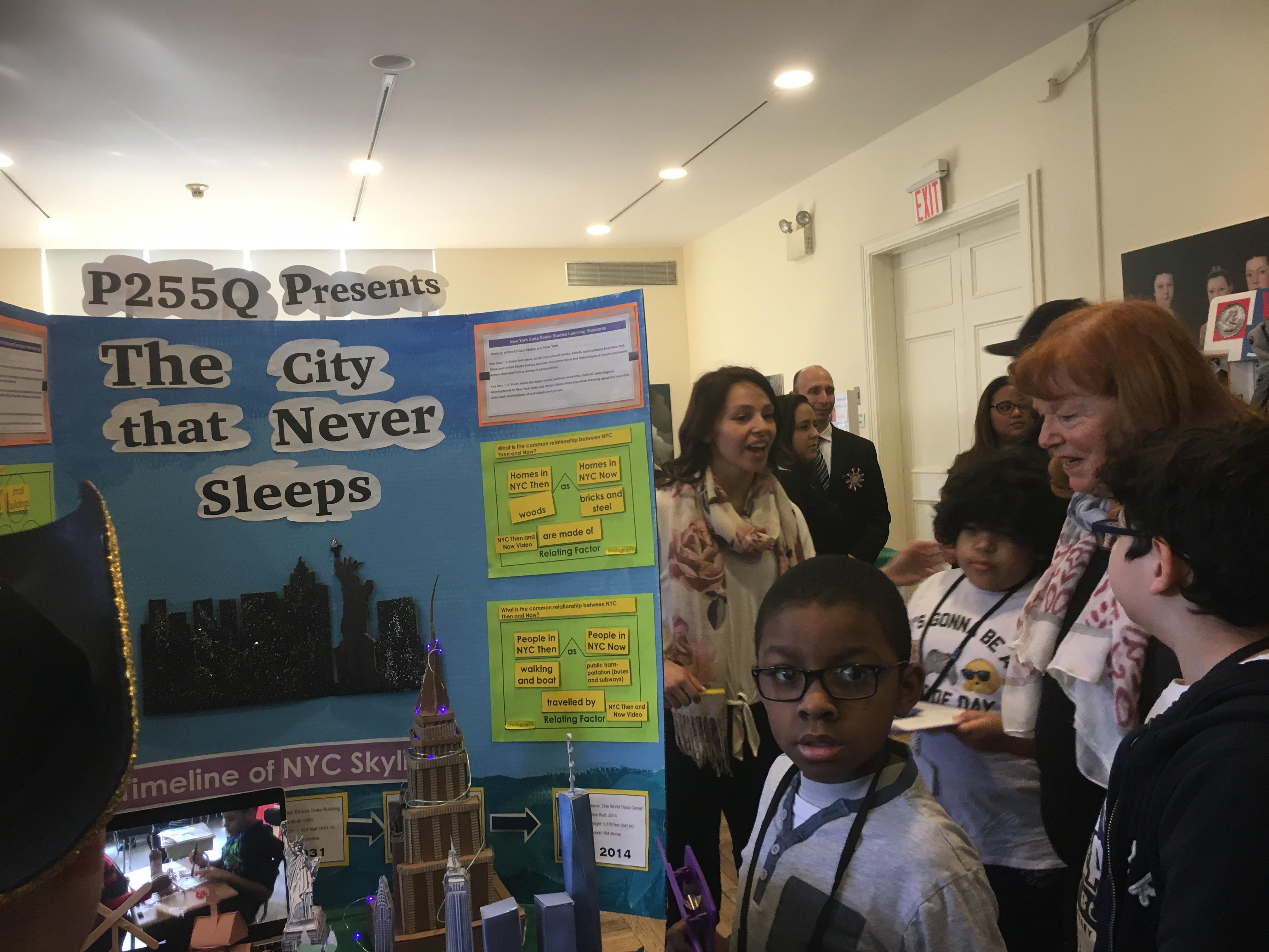 D 75 Social Studies Fair: New York, Then & Now by P255Q @ PS 7