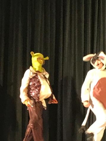 Manny as Shrek!