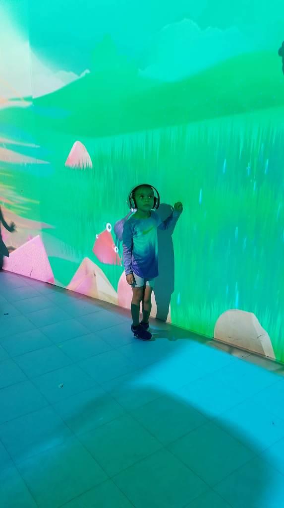 Student in AR sensory world