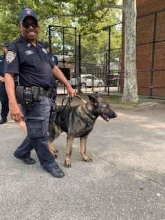 Policeman with K9