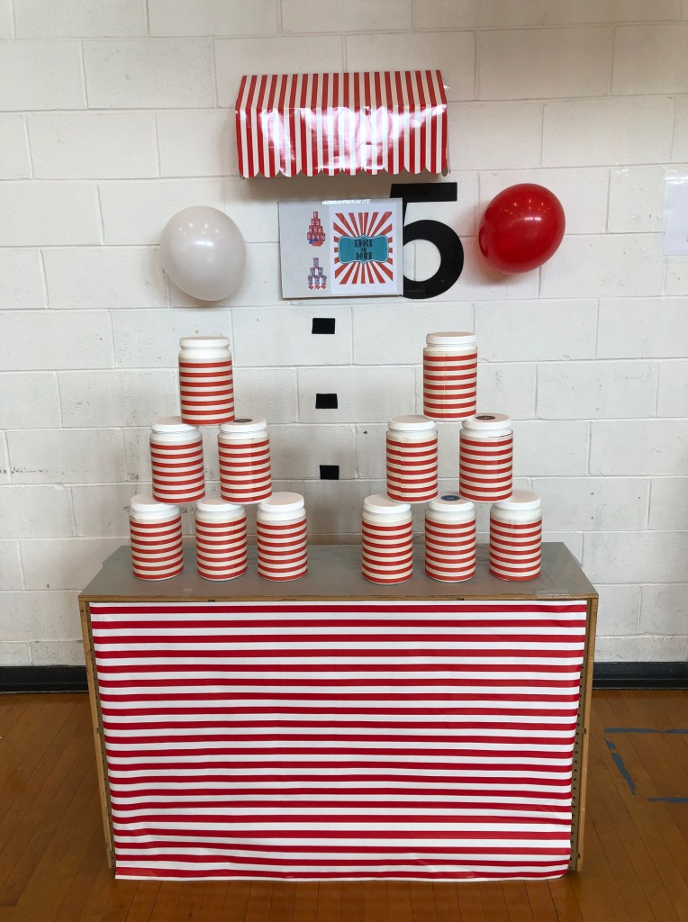 Carnival stacking cups