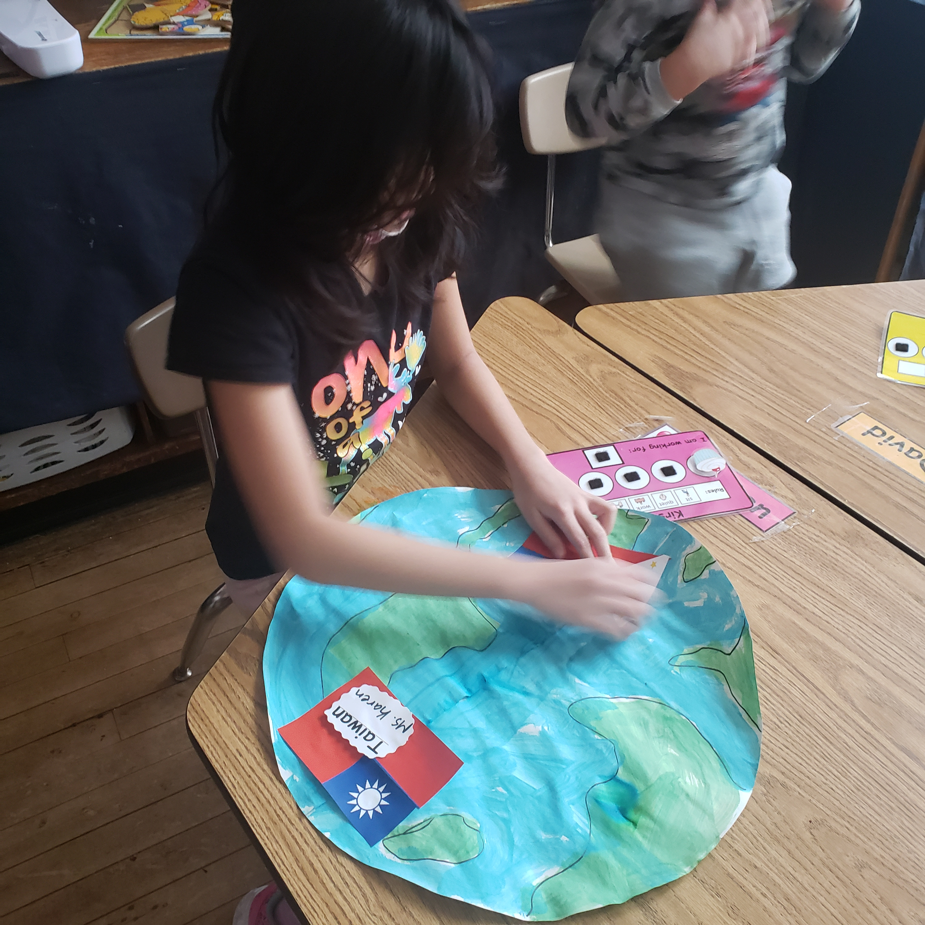 Child working on respect for all activity