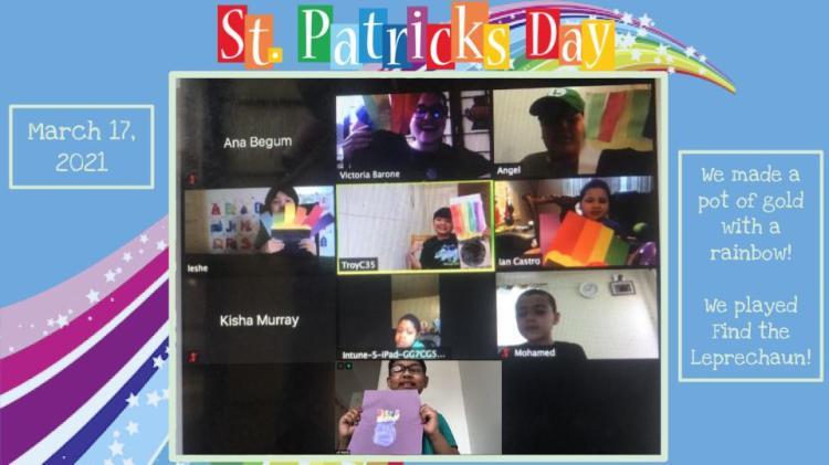 St Patricks Day Zoom Class