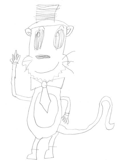 Drawing of cat in the hat