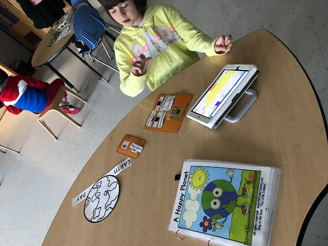 using device to help read book